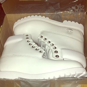 Timberland Shoes - All White Timberlands